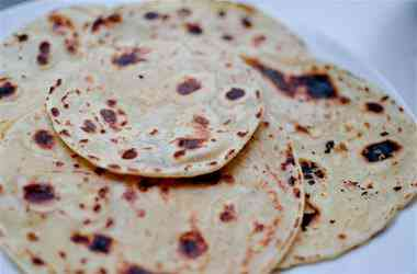 Chapati -- unleavened Indian flat bread. Monkeys apparently love it.